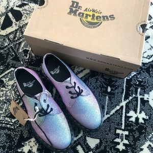 Dr. Martens 3 Eye Pink Glitter Lace Up Loafers
